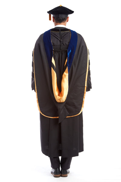 PhD Hood with Gold & Black Lining