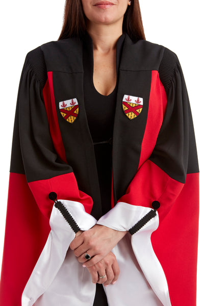 Stanford Complete Doctoral Regalia Set - Doctoral Gown, PhD Hood, and Eight-Sided Cap/Tam with Tassel - Arts/Humanities/Sociology/Mathematics (White)