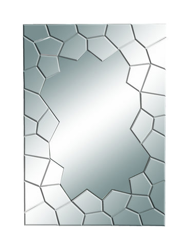 Contemporary Mirror with Fractured Edges
