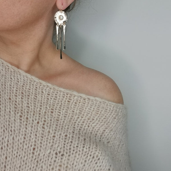 Sungazer earrings - sterling silver