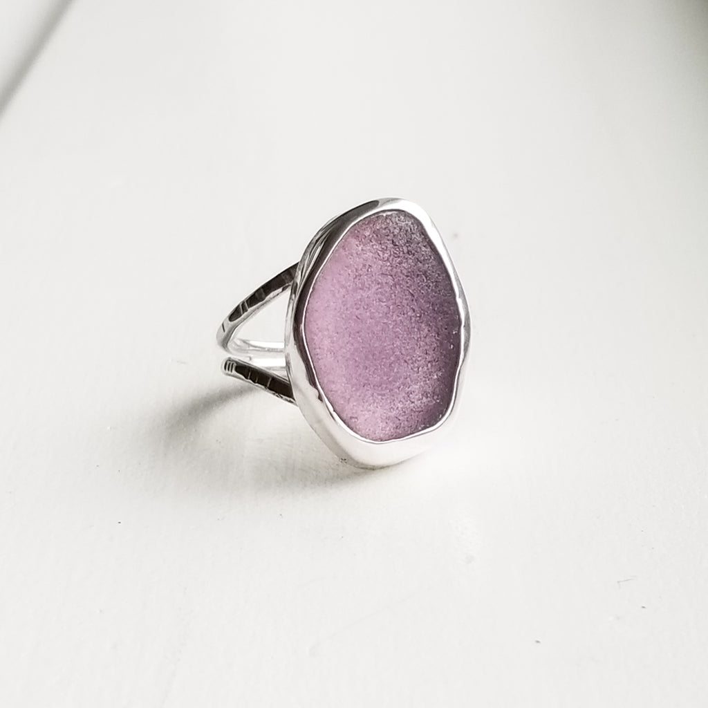 Ring - beachglass - sterling silver