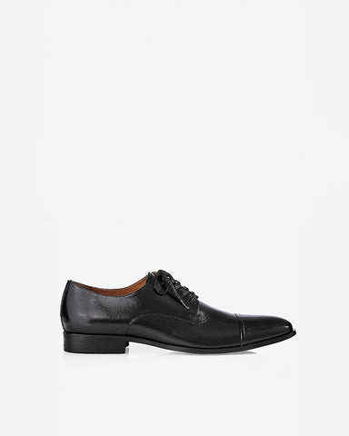MAXWELL MARTIN: Leather Oxford Dress Shoe