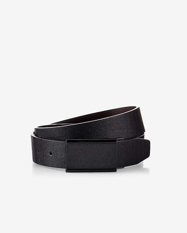 MAXWELL MARTIN: Reversible Textured Matte Plaque Belt