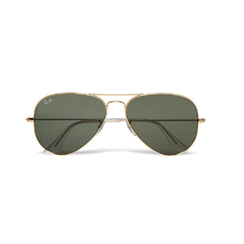 ANARCHY IN THE U.S.A.: Gold Aviator Sunglasses