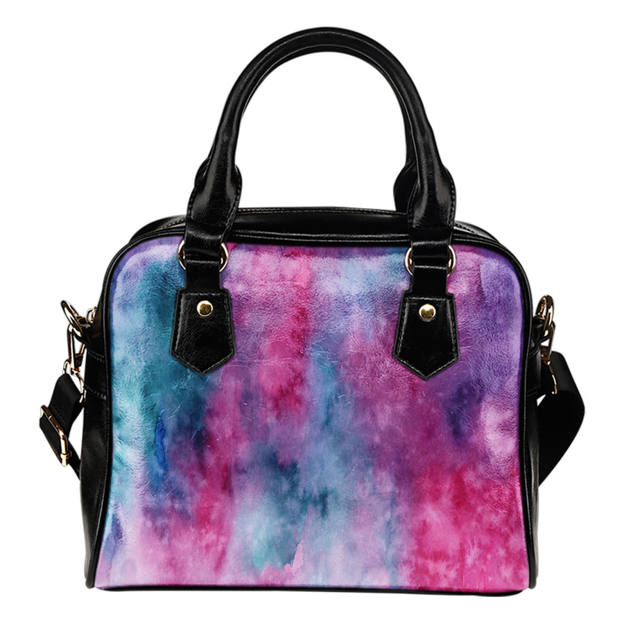 Watercolor Pink Shoulder Handbag