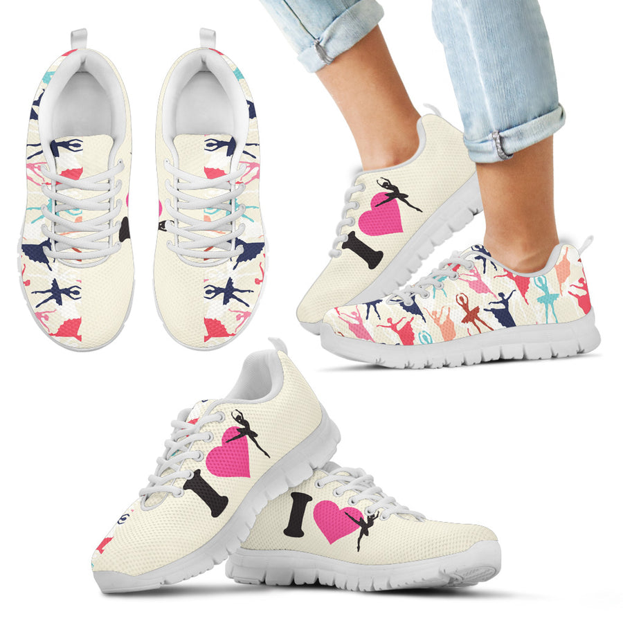 I Love Ballet Kid's Sneakers