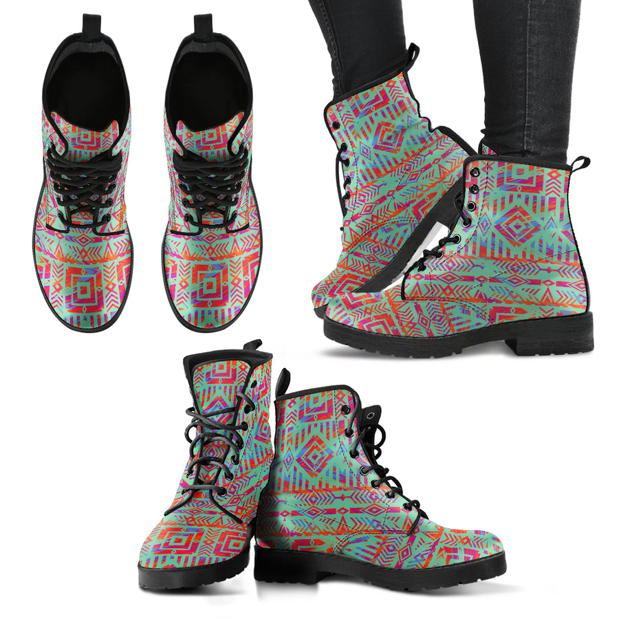 Aztec Green Women's Boots