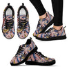 Funky Patterns in Pinks - Women's Sneakers (Black)
