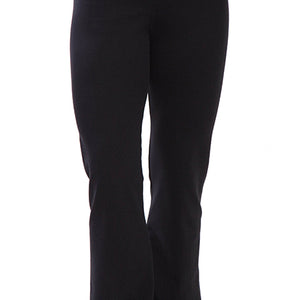 Black-High Waisted-Workout Yoga Pants-front image