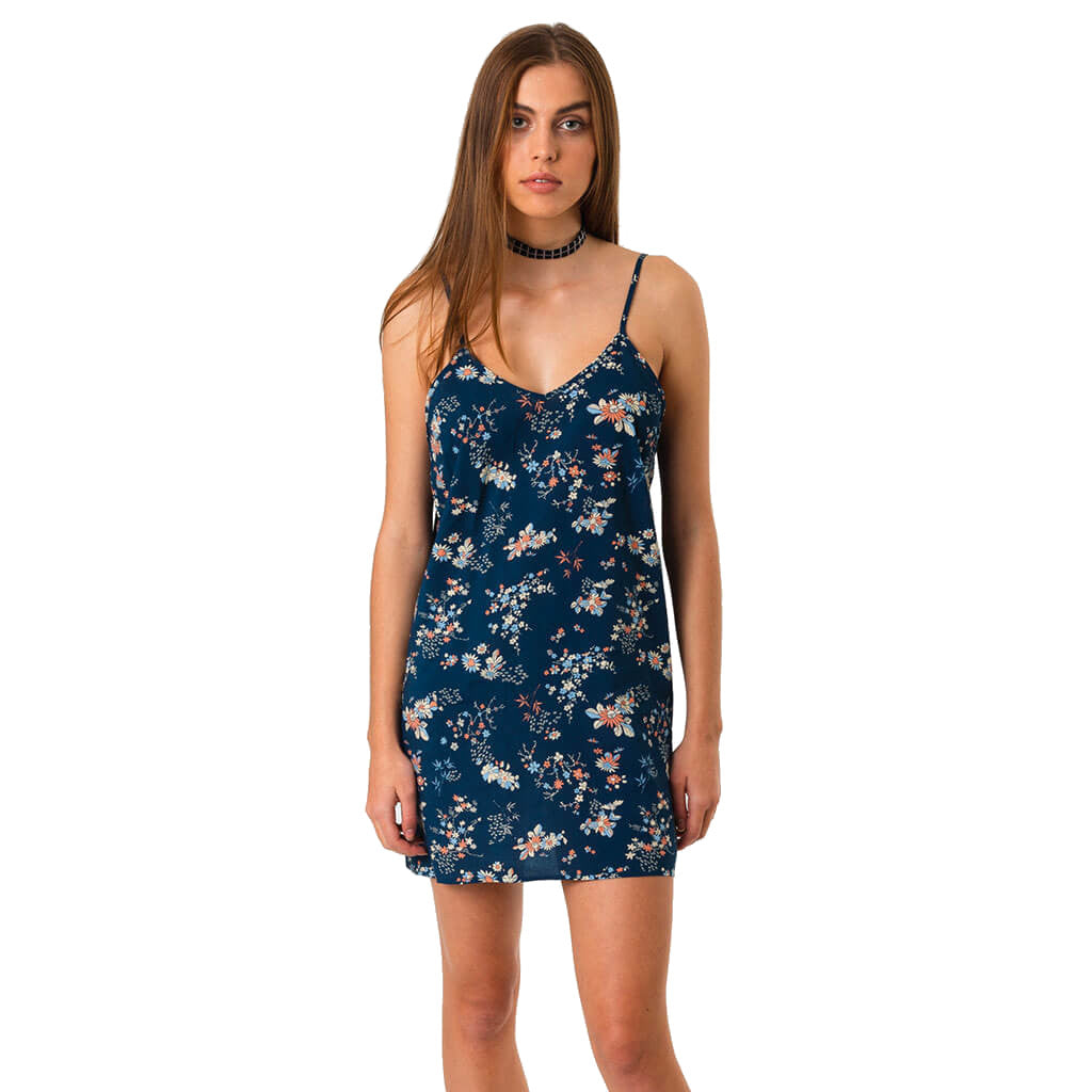 Afends Verona Slip Dress - Indigo