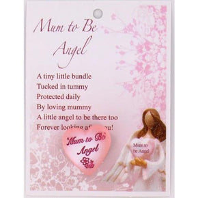 Spirit Earth Small Heart - Mum to be Angel
