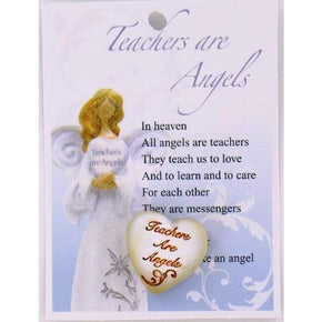 Spirit Earth Small Heart - Teachers are Angels