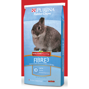 Purina Rabbit Chow Fibre 3 Wholesome AdvantEdge, 50 Lb.
