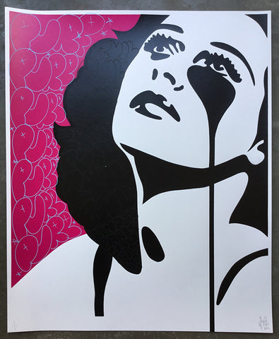 Hedy - Watch the Skies<br>Unique 1/1 handfinished screenprint