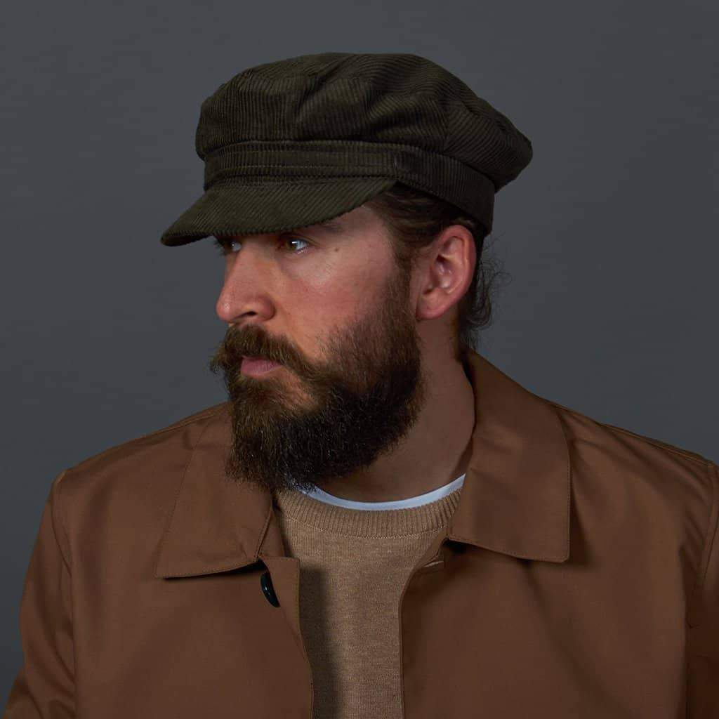 Courdaroy Mariner Hat - Olive