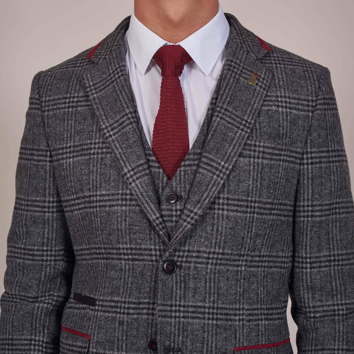Plain Burgundy Silk Knitted Tie