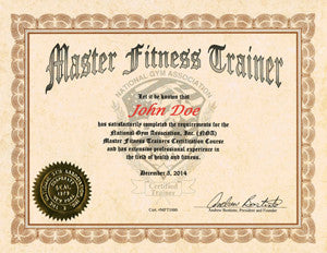 30.  NGA MASTER FITNESS TRAINER COURSE - Manual Format