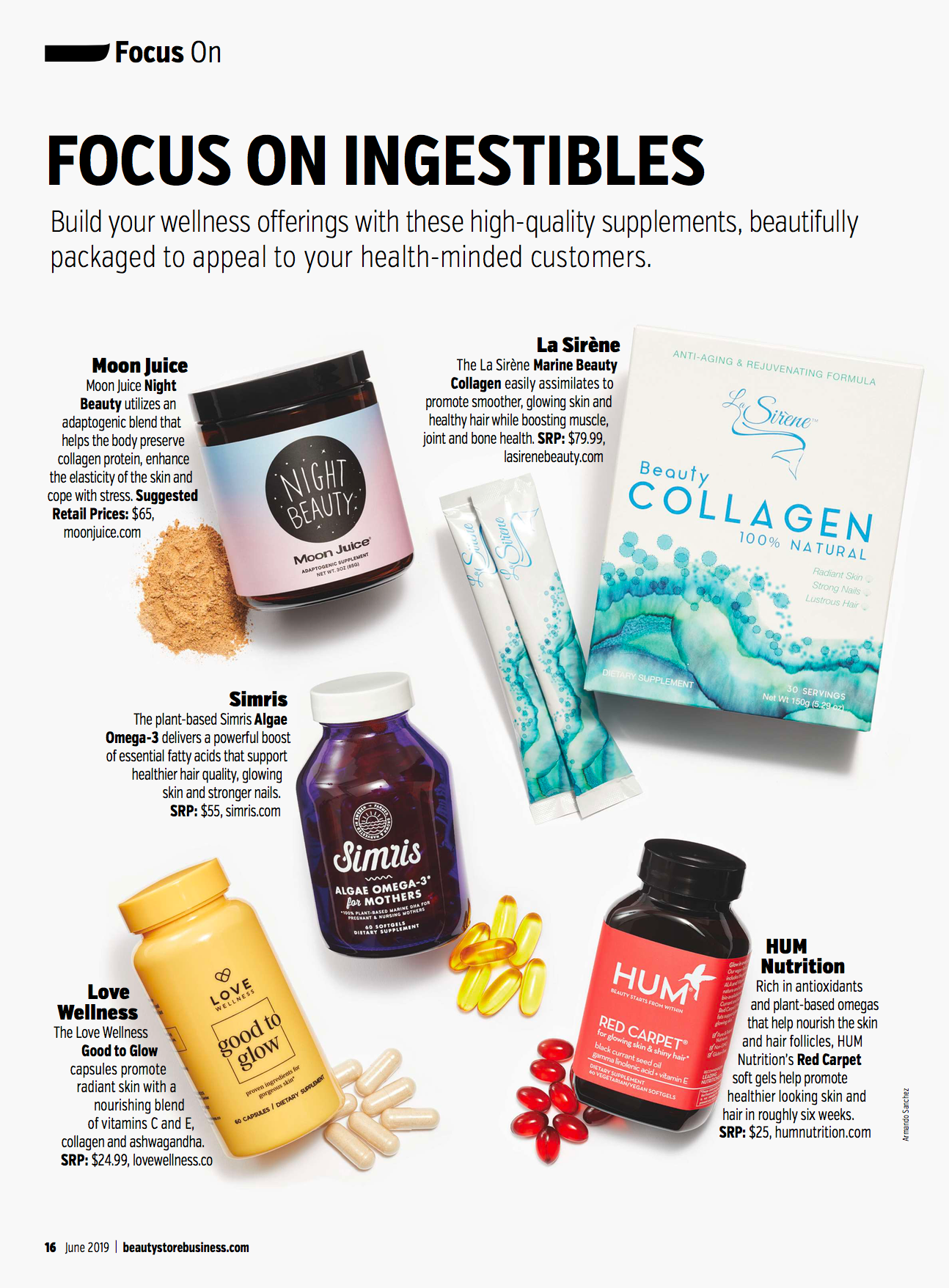 Beauty Business Store Magazine - June 2019, Focus on Ingestibles - La Sirene Marine Collagen Beauty Supplement