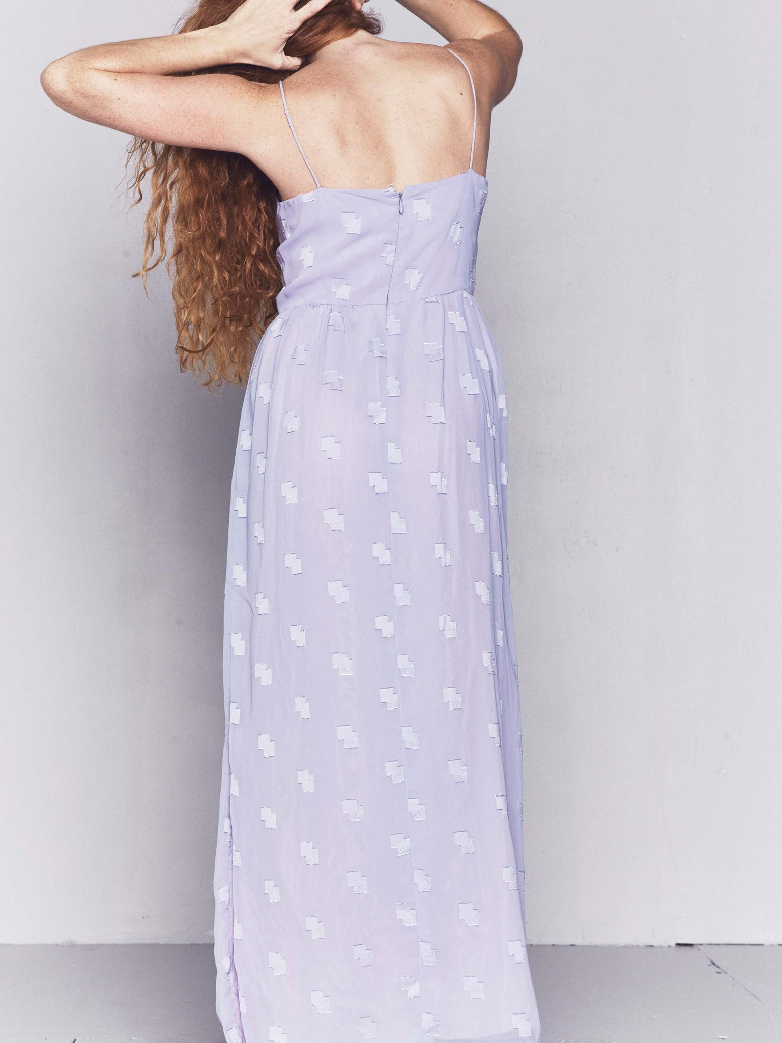 Vintage 1980s Graphic Purple Maxi Dress
