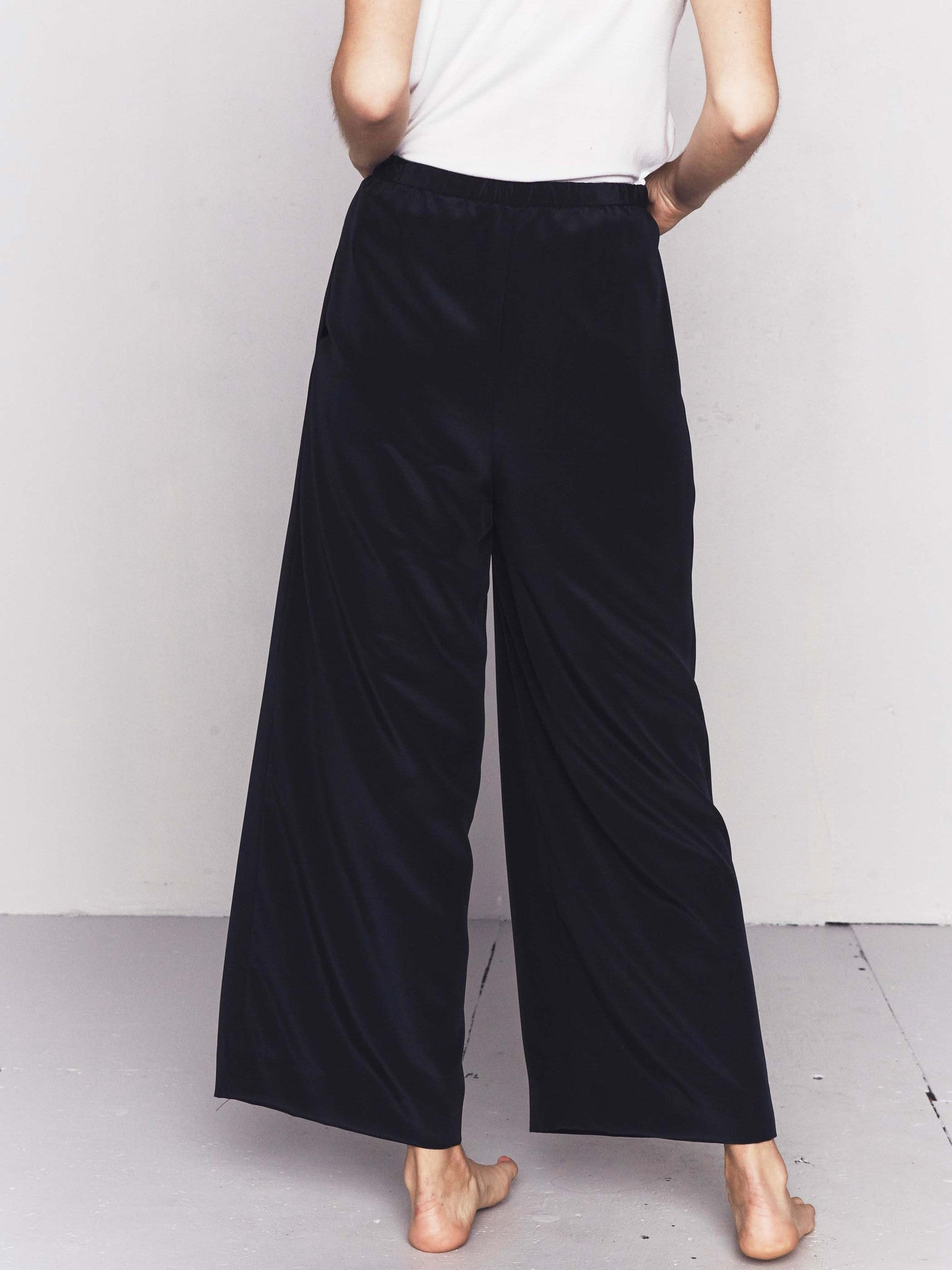 Vintage 1970s William Pearson Silk Palazzo Pants