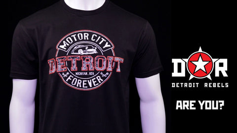 Detroit Motor City Forever T-Shirt by DETROIT★REBELS Brand