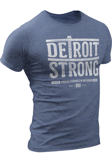 Detroit Strong (Vintage Press) T-Shirt  by DETROIT★REBELS Brand