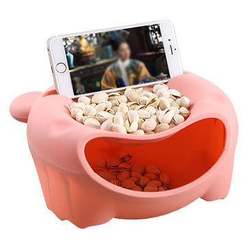 Snack Bowl with Phone Holder