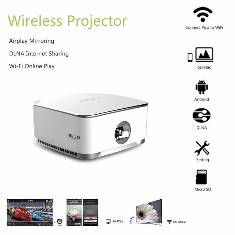 PURIDEA Portable Pocket Projector with Speaker