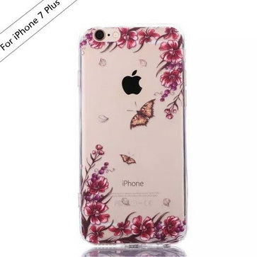 Butterfly Flower Transparent Case (iPhone 7 Plus)