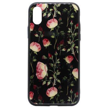 Tempered Glass Floral Case (iPhone X)