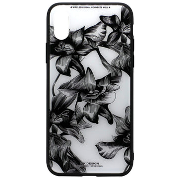WK Tempered Glass Floral Case (iPhone X)