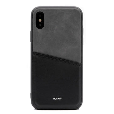 Mokka Leather Card Case (iPhone X)