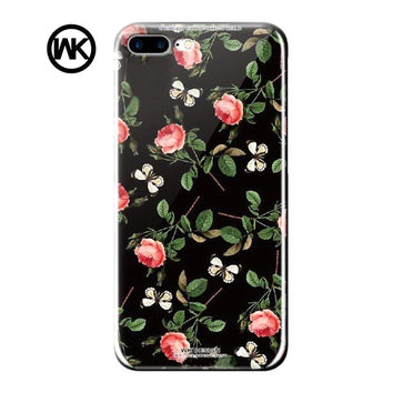 WK Tempered Glass Flower Case (iPhone 7 Plus)