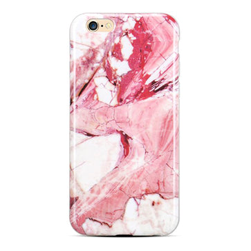 Pink Marble Silicone Case ( iPhone 6 plus)