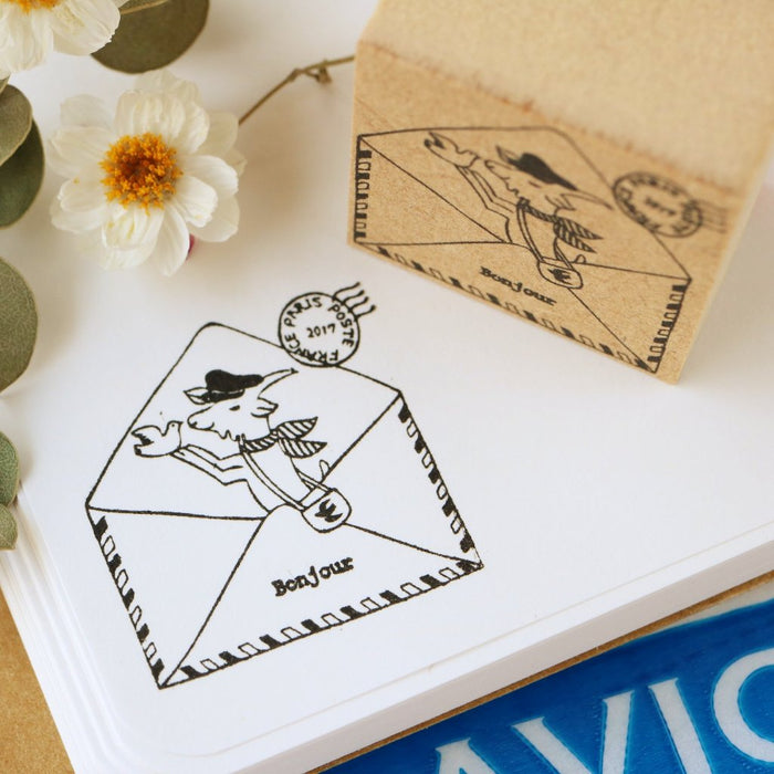 Megumi Hori Rubber Stamp - Air Mail