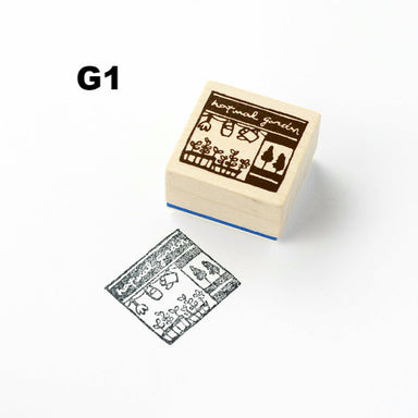 Discontinued Chamil Garden Rubber Stamp - Shop