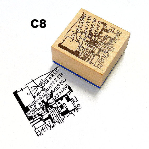 Chamil Garden Rubber Stamp - Cafe