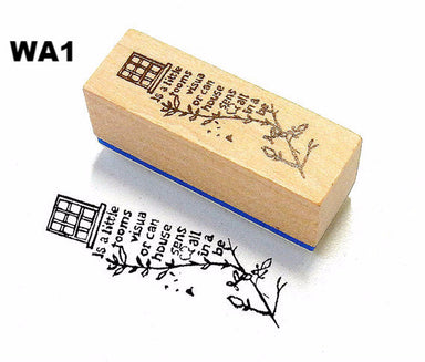 Chamil Garden Rubber Stamp - Walking