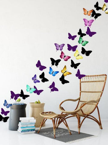 Artsy Butterfly Decor Wall Decals (30 stickers) - Create-A-Mural