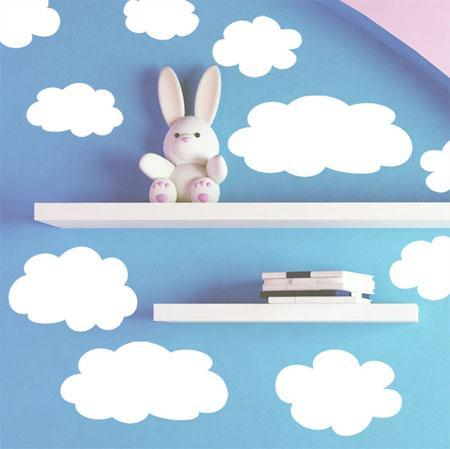 Kids Fluffy Cloud Wall Decals - Create-A-Mural