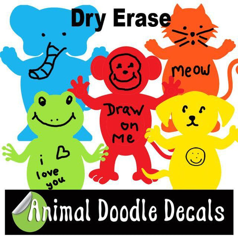 Dry Erase for Kids ~Animal Doodle Decals - Create-A-Mural