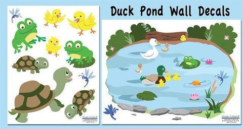 Duck Pond Wall Decals - Create-A-Mural