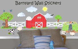 Barnyard Wall Stickers -Kids Wall Decals - Create-A-Mural