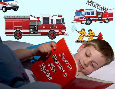 Fire Truck Wall Decals - Create-A-Mural