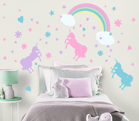 Unicorn Rainbow Wall Decals
