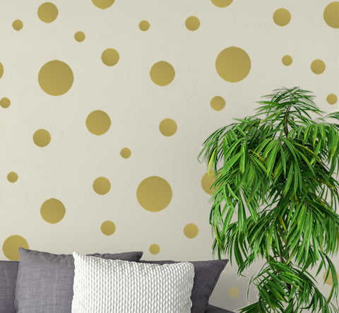 Gold Wall Dots - Create-A-Mural