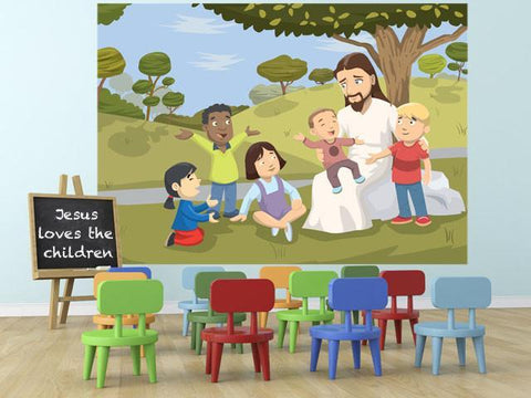 Jesus Loves The Children Mural - Create-A-Mural