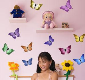 Colorful Butterfly Wall Decals - Create-A-Mural
