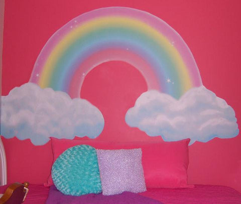 Girls Room Rainbow Mural - Create-A-Mural