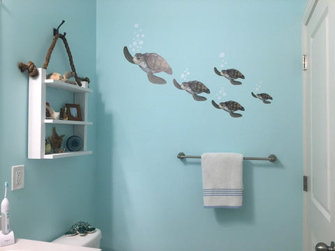Sea Turtle Family Wall Decals - Create-A-Mural